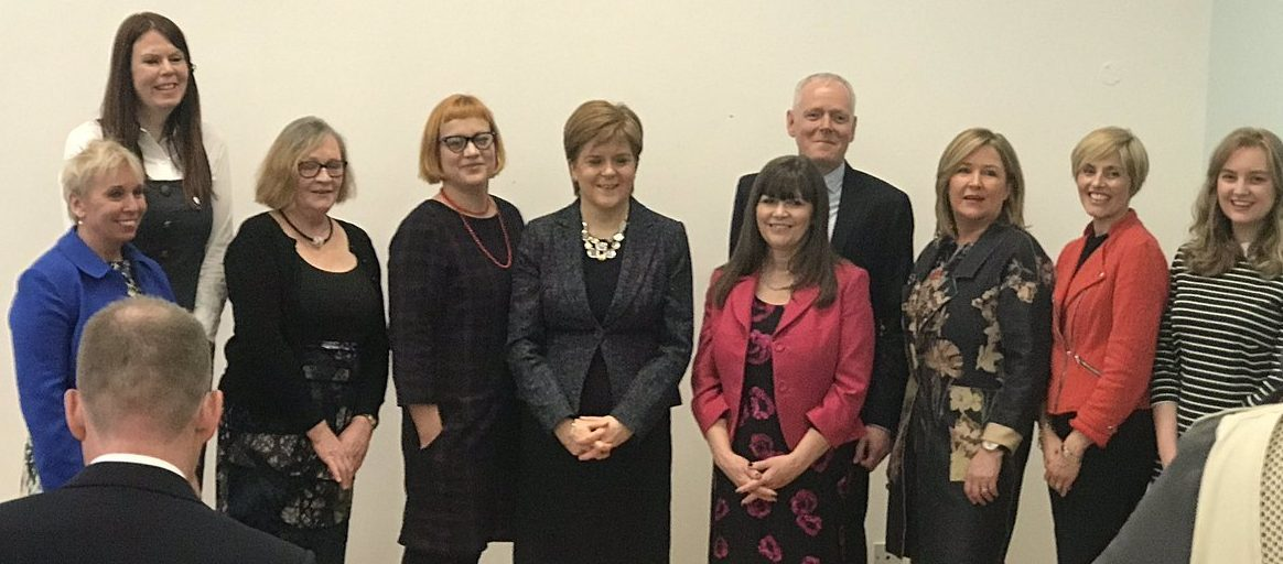 Photo of Nicola Sturgeon with the Managed Clinical Network for PMH team