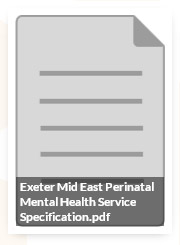 Exeter Mid East perinatal Mental health Service Specification