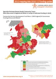 Specialist Perinatal Mental Health Teams Dotted Map Wave 1 funding Eng & Wales