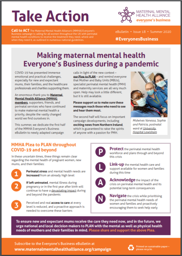 Front cover of the MMHA Everyone's Business Summer 2020 eBulletin
