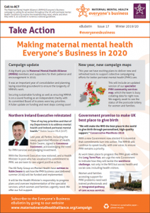 Front cover of the MMHA Everyone's Business Winter 2019/20 eBulletin