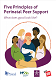 Front cover of the perinatal peer support principles